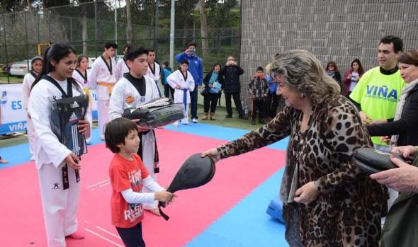 Alcaldesa Virginia Reginato reinauguró Complejo Polideportivo Municipal Jonathan Araya Olivares de Forestal