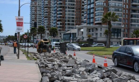 Municipio de Viña del Mar recarpetea último tramo de Av. Jorge Montt