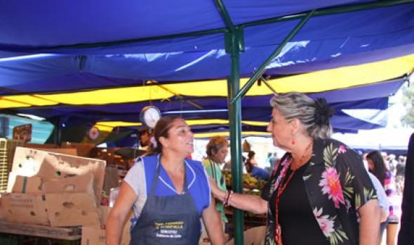 Alcaldesa Virginia Reginato entregó equipamiento a Feria Libre de Achupallas