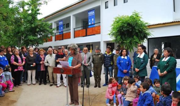 Alcaldesa Virginia Reginato inauguró Complejo Polideportivo de Gómez Carreño