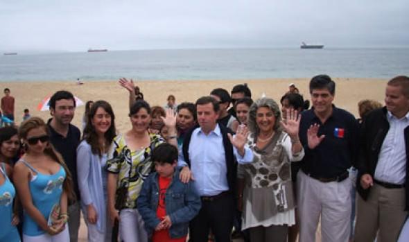 Alcaldesa Virginia Reginato apoya campaña de   libre acceso a las playas y balnearios