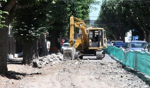 Municipio de Viña del Mar inició trabajos de reposición de calle 2 Norte