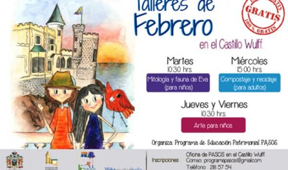 Municipio de Viña del Mar ofrece nuevos talleres de arte para niños en Castillo Wulff