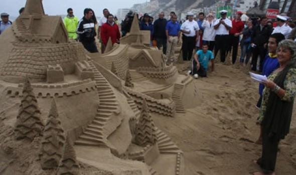 Municipalidad de Viña del Mar finaliza 30° Concurso de Castillos de Arena