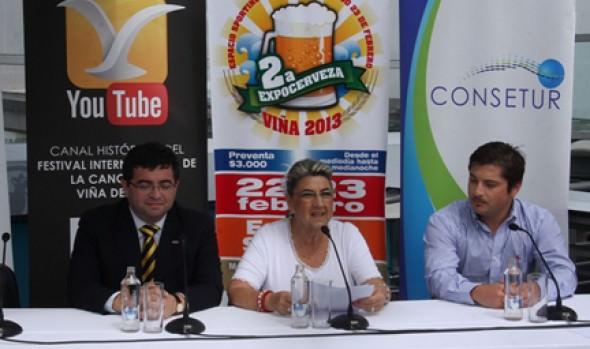 Alcaldesa Virginia Reginato invitó a viñamarinos y visitantes a disfrutar con la segunda Expo Cerveza