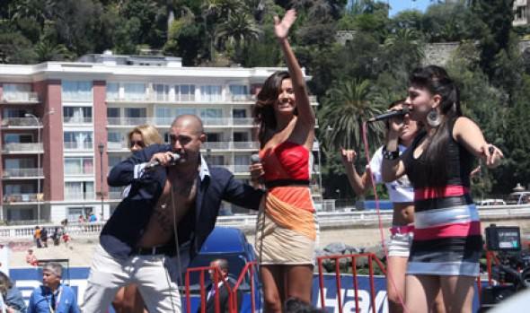 Alcaldesa Virginia Reginato presentó a candidatas a reina del Festival  de la Canción 2013