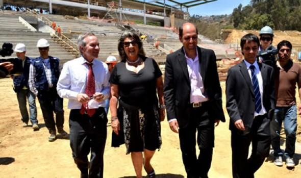 Estadio Sausalito estará listo este año afirmó alcaldesa Virginia Reginato