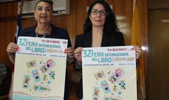 Programa de 32ª Feria del Libro de Viña del Mar fue dado a conocer por alcaldesa Virginia Reginato