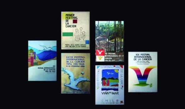 Municipio invita a muestra de afiches y videos históricos del Festival Internacional de la Canción de Viña del Mar