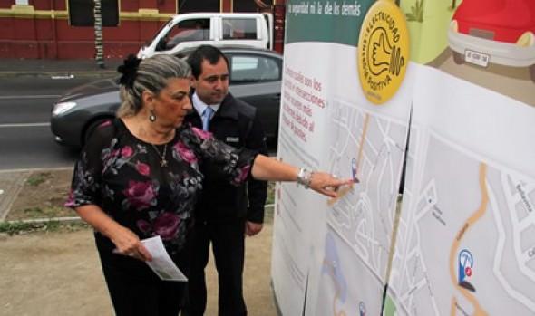 Municipio de Viña del Mar realiza campaña preventiva contra choques en el alumbrado público junto a CONAFE y Carabineros