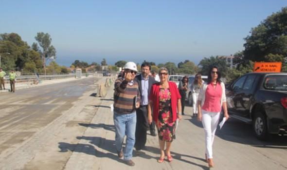 Término de reversibilidad vehicular en Av. Alessandri fue destacado por alcaldesa Virginia Reginato