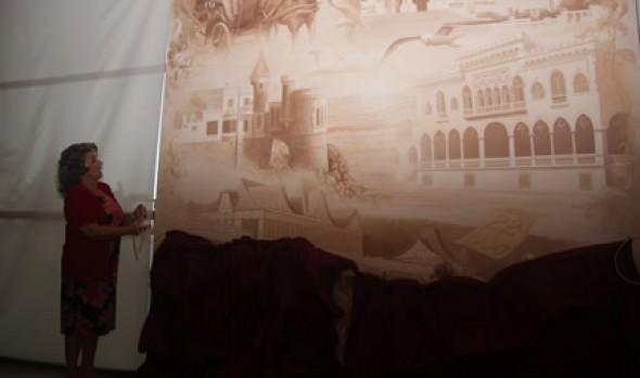 Primer mural que representa las postales más típicas de Viña fue inaugurado por alcaldesa Virginia Reginato