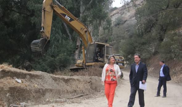 Avance  de 80% de plan invierno fue inspeccionado por alcaldesa Virginia Reginato
