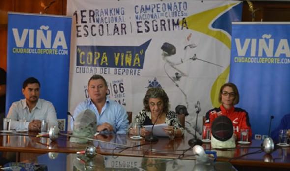 Antecedentes de torneos de esgrima en Viña del Mar fueron dados a conocer por alcaldesa Virginia Reginato