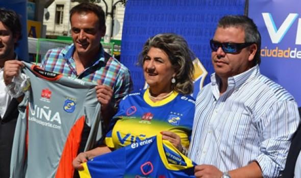 Con arengazo de alcaldesa Virginia Reginato y capitán  Gustavo Dalsasso llaman a apoyar a Everton