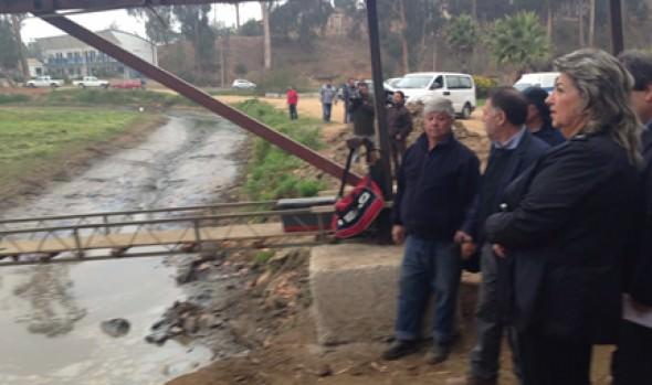 Avance de desembanque del Tranque Forestal fue inspeccionado por alcaldesa Virginia Reginato