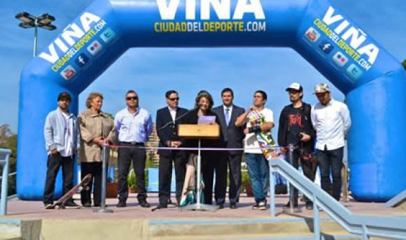 Moderno Skatepark  en Viña del Mar fue inaugurado por alcaldesa Virginia Reginato