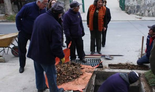 Inspección a trabajos  del Plan invierno y llamado a la prevención hizo alcaldesa Virginia Reginato