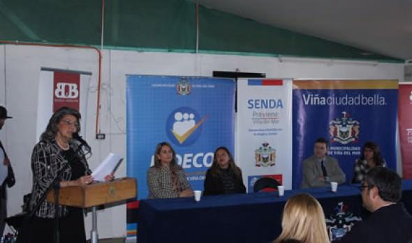 Municipalidad de Viña del Mar, SENDA   y empresas fomentan Programa preventivo de consumo de alcohol y drogas