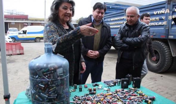Municipio de Viña del Mar ha reciclado 35 toneladas de pilas en una  década