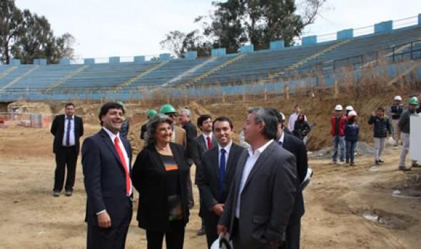 Codo Laguna del estadio Sausalito   se encuentra en pleno proceso de desarme