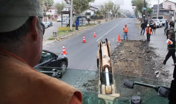 Municipalidad de Viña del Mar inicia mejoramiento vial en Agua Santa