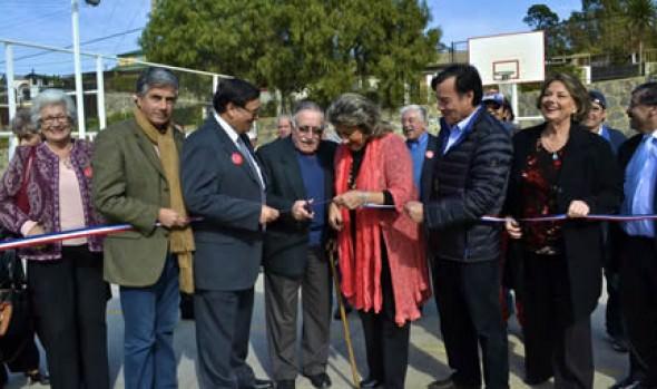 Inauguración de cancha por parte de  alcaldesa Virginia Reginato, destacó en Centenario de CD Centro América
