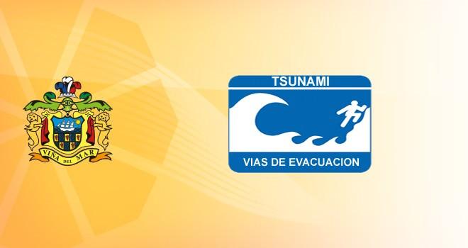 Tsunami, vías de evacuación