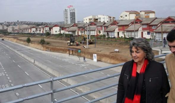 Obras de mejoramiento de Av. Alessandri fueron inspeccionadas por alcaldesa Virginia Reginato