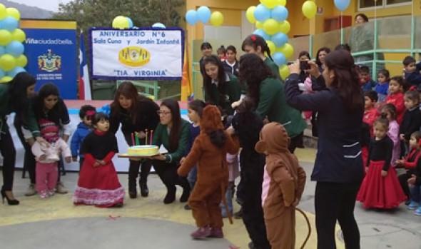 """Jardín Infantil """"Tía Virginia"""" de la Municipalidad de Viña del Mar cumplió 6 años en Reñaca Alto"""