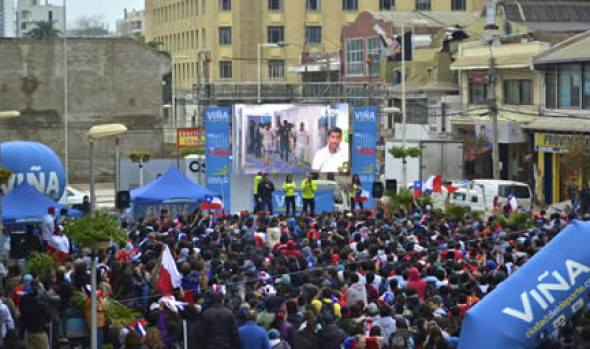 Municipalidad de Viña del Mar instalará  pantalla gigante para Chile-Brasil