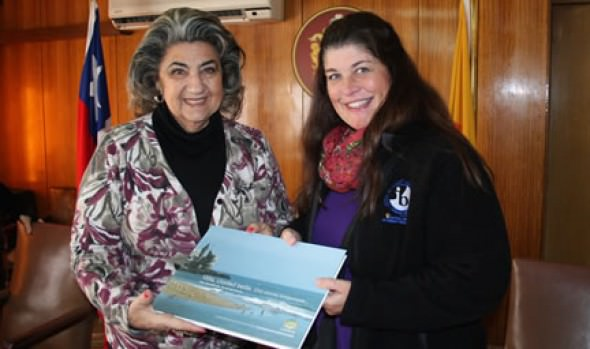 Estudiantes extranjeros de media compartieron su experiencia de intercambio con alcaldesa Virginia Reginato