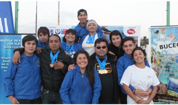 Escuela de buceo de la Municipalidad de Viña del Mar tuvo gran participación en torneo nacional