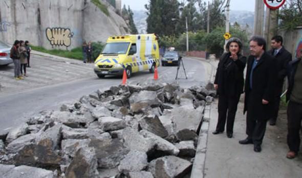 Municipio de Viña del Mar continúa en Miraflores  programa de bacheo y recarpeteo