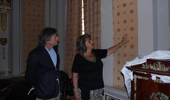 Inicio de trabajos de restauración del Palacio Rioja fueron inspeccionadas por alcaldesa Virginia Reginato