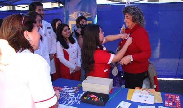 Con feria temática, alcaldesa Virginia Reginato participó en conmemoración de la Semana Mundial de la lactancia materna