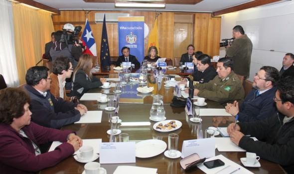 Constituyen mesa técnica para la prevención de riesgos y emergencias convocada por la Municipalidad de Viña del Mar