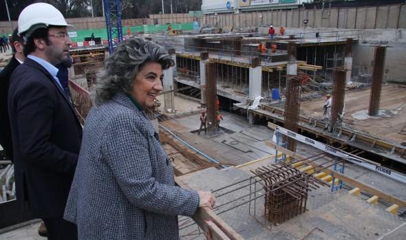 Obras de estacionamientos subterráneos de Plaza Sucre fueron inspeccionadas por alcaldesa Virginia Reginato