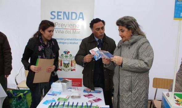 En feria Caupolicán se desarrolló operativo social y de servicios del  municipio de Viña del Mar y Gobierno Regional