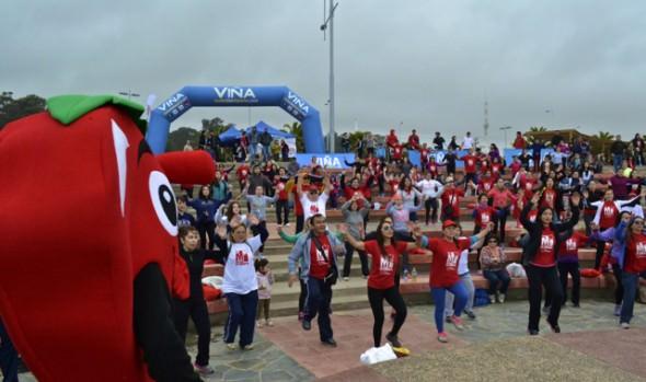 Con  caminata y zumbatón, Municipalidad de Viña del Mar y Fundación Cardiovascular cerraron el Mes del Corazón