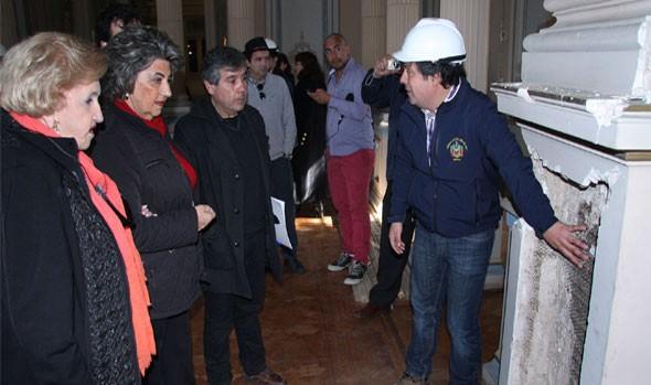 Alcaldesa Virginia Reginato valora trabajos de  restauración del Palacio Rioja