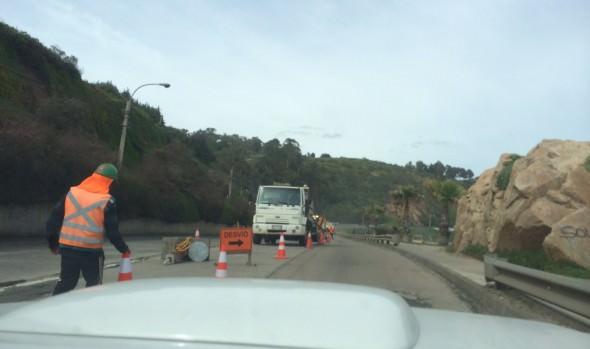 Municipio de Viña del Mar inició este lunes trabajos de mejoramiento en Av. Borgoño