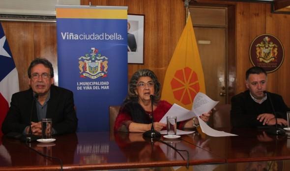 Novedades de espectáculo pirotécnico 2015 en Viña del Mar, fueron dados a conocer por alcaldesa Virginia Reginato
