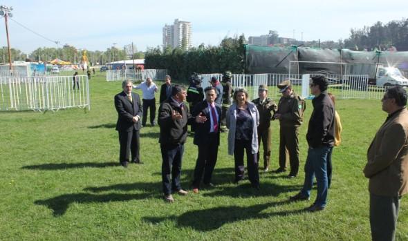 Autoridades realizaron inspección final a recinto donde se desarrollará la gran fiesta criolla en Viña del Mar