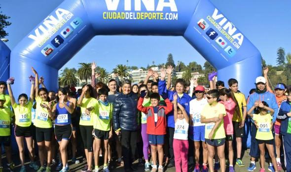 Municipio de Viña del Mar realiza 5ª fecha de las corridas familiares