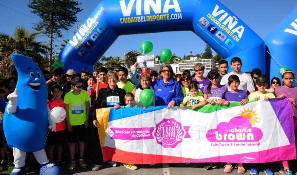 Municipalidad de Viña del Mar realizó nueva fecha de  corridas familiares, con caminata por la donación de órganos