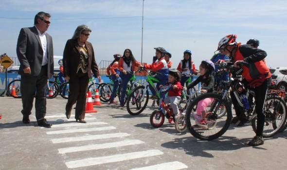 Cicletadas familiares de Viña del Mar contarán con circuito educativo para niños