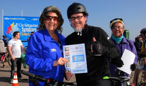 Con gran cicletada familiar se celebró en Viña del Mar el día de la bicicleta