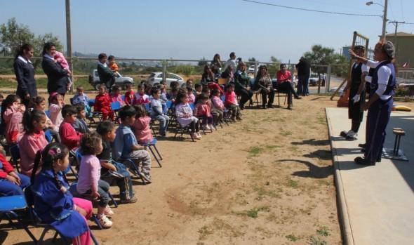 Circo Hermanos Vásquez compartió con niños de Jardín Infantil de Forestal