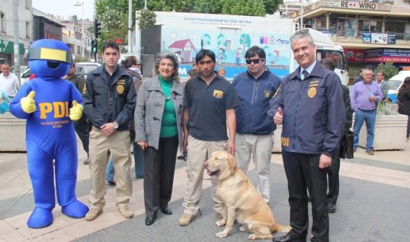 Municipio de Viña del Mar y PDI inician campaña para evitar el maltrato animal